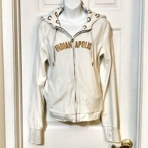 Indianapolis colts hoodie gold shimmery white rare